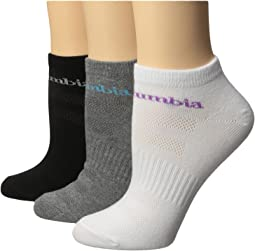 Columbia Basic Flat Knit Socks No Show 3-Pack