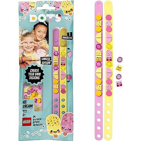 LEGO Dots 41910 LesBraceletsCrèmeglacée, Kit Création Bijoux DIY, Loisirs Créatifs et Bricolage pour Enfant de 6 Ans et Plus