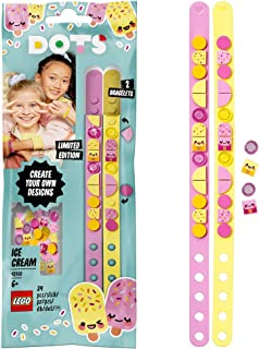 LEGO 41910 DOTS Ice Cream Besties Bracelets Jewellery Set, Tiles DIY Gifts, Arts and Crafts for Kids