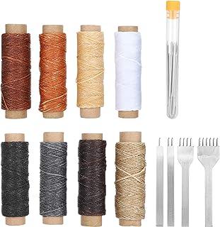 Kit de réparation de cuir, outils d'artisanat en cuir, réparation de cuir pour la couture de bricolage en cuir