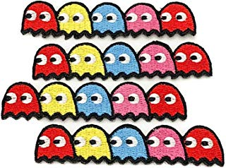 (4 Pack) 100% Embroidered Pac-Man Ghosts Blinky Pinky Inky Clyde Pacman Set - Iron Or Sew On by NEO Tactical Gear