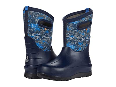 Bogs Kids Neo-Classic Micro Camo (Toddler/Little Kid/Big Kid) (Dark Blue Multi) Boy