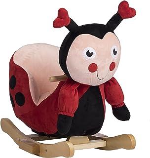 Rockin' Rider Lala The Ladybug Baby Rocker Plush Ride-On, Red