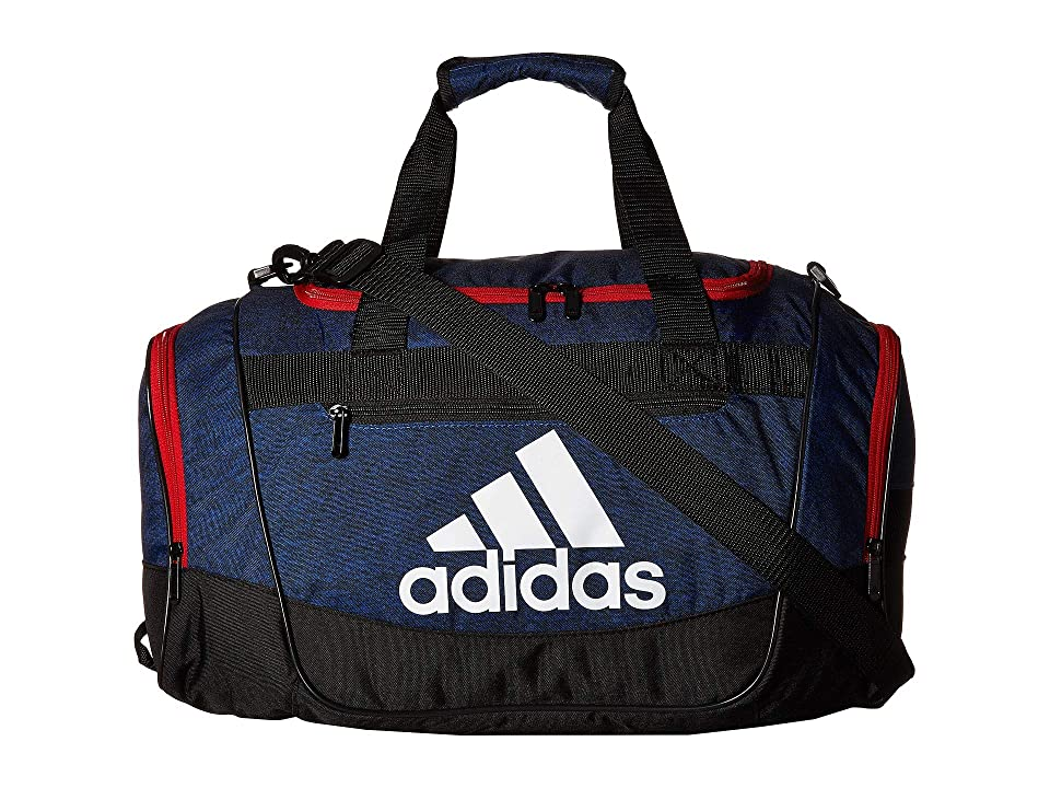 adidas Defender III Small Duffel (Collegiate Royal Jersey/Scarlet/Black) Duffel Bags, Blue