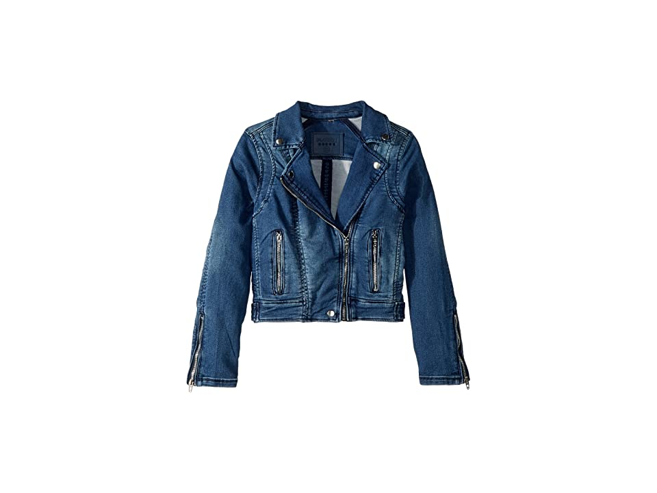 Blank NYC Kids Denim Moto Jacket with Zipper Detail (Big Kids) (Summer Break) Girl