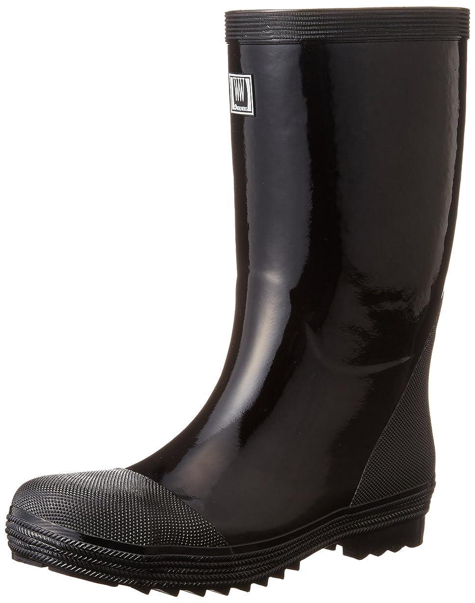 交流する純粋な一回おたふく手袋 安全軽半ゴム長靴 WW711 24.0cm