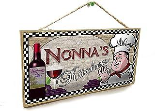 Blackwater Trading Nonna's Kitchen Italian Fat Chef Style Sign Plaque 5