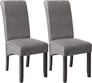 TecTake Lot de 2 chaises de salle à manger 105cm chaise de salon mobilier meuble de salon - diverses couleurs au choix - (...