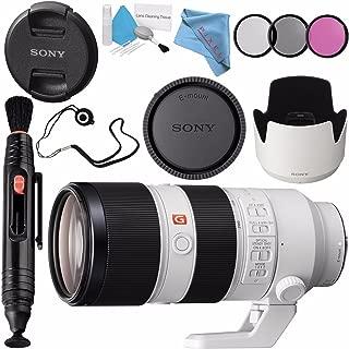 Sony FE 70-200mm f/2.8 GM OSS Lens SEL70200GM + 77mm 3 Piece Filter Kit + Lens Pen Cleaner + Fibercloth + Lens Capkeeper + Deluxe Cleaning Kit Bundle