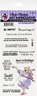 ART IMPRESSIONS LAUGH LINES STAMP BE HAPPY, One Size