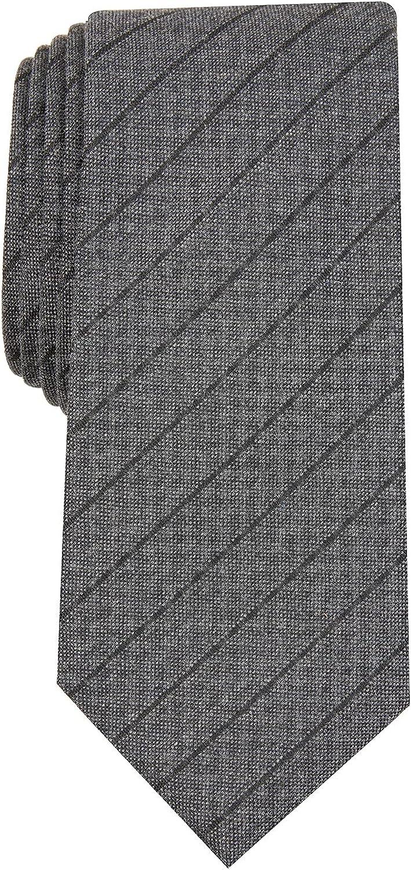 Alfani Men's Prime Stripe Tie Black Size Regular