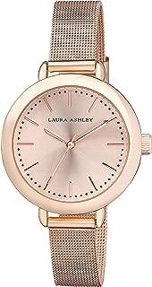 Laura Ashley Rose Gold Women's Mesh Band Classic Watch