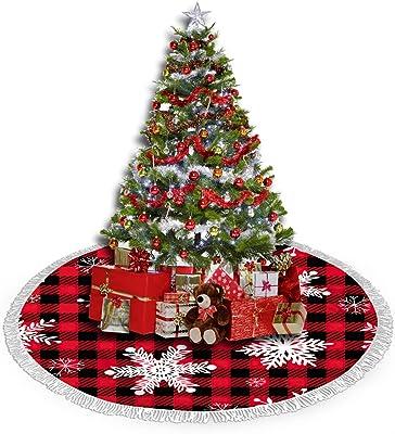 Christmas Tree SkirtTree Stand CoverUnder Christmas Tree ClothPink and Burgundy PoinsettiasGreen Braided Trim