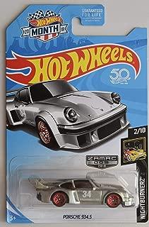 Hot Wheels 1:64 Scale NIGHTBURNERZ 2/10, ZAMAC Porsche 934.5 2018 Month Card