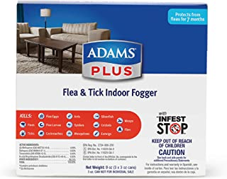 Adams Plus Flea Control Indoor Fogger, 3 Ounce, 3 Pack