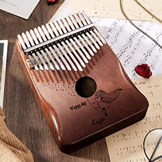 الإبهام البيانوس لوحات المفاتيح Kalimba 17 Keys Mini Thumb Piano High Quality Wood Mahogany Body Mbira Musical Instrument ...