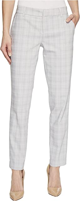Kelsey Straight Leg Trousers in Novelty Print Comfort Stretch Knit in Misty Grey