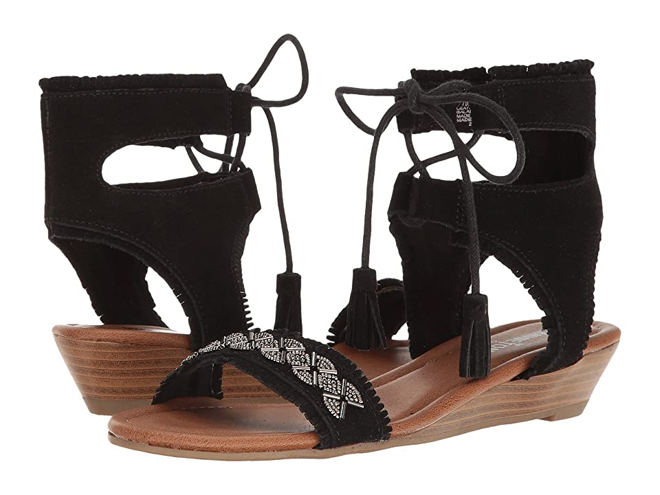 Minnetonka Portofino (Black Suede) Women