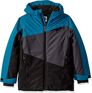Spyder Boys' Big City to Slope Full Zip Hooded Jacket with Poly Fill-swell