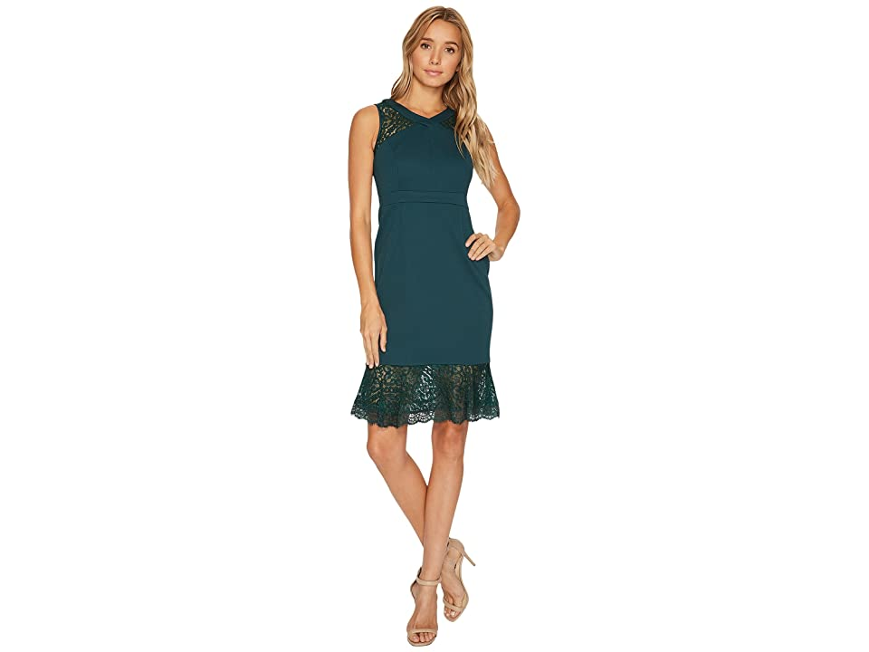Adrianna Papell Petite Midi Mermaid Dress (Hunter) Women