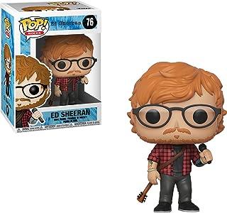 Funko Ed Sheeran POP! Rocks Vinyl Figure + 1 Music themed Trading Card Bundle [#076 / 29529]