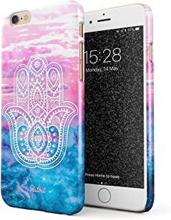 Glitbit Compatible with iPhone 6 Plus / 6s Plus Case Hamsa Fatima Hand Luck Symbol Mandala Henna Paisley Clouds Landscape Mountains Pattern Thin Design Durable Hard Shell Plastic Protective Case Cover