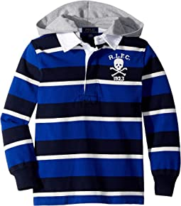 Striped Cotton Hooded Rugby (Toddler)