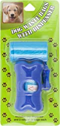 Brite Concepts Dog Waste Bags Dispenser, With 2 Rolls 20 Bags each, 40 Bag Count