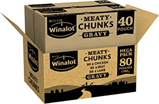 WINALOT Dog Food Pouches Mixed in Gravy 80 x100g