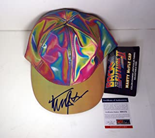 Michael J. Fox Signed Back To The Future Marty McFly Hat PSA/DNA COA