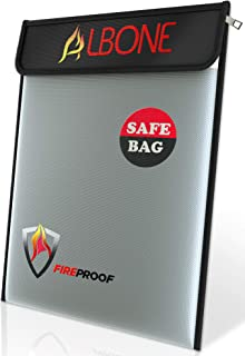 Premium Fireproof Document Bag 15 x 11 Inch || Water Resistant Safe Zip and Velro for Cash, Jewelry, Documents, Tablet, Money