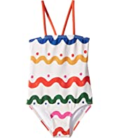 Stella McCartney Kids - Hailey Multicolor Squiggly Print Swimsuit (Infant/Little Kids/Big Kids)