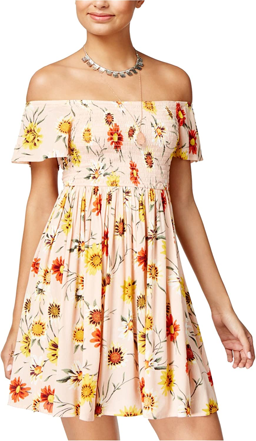 American Rag Womens Printed Fit & Flare Dress