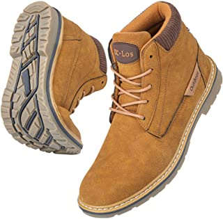 Hiking Boots Men's Non-Slip Leather Warm Boot Water Resistant Shoe Outdoor Shoes Fur Lined