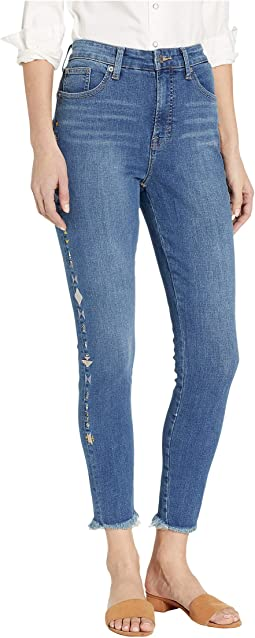 Bridgette High-Rise Skinny Jeans in Spanish Isles