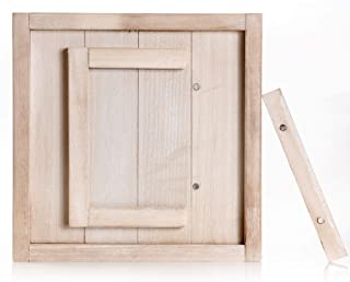 Anchor Method Rustic Barnwood Style 5x7 Picture Frame - A Beautiful Accent for Home Decor with Front Magnetic Opening Picture Insert