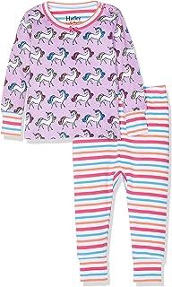 Hatley Baby-M/ädchen Ruffle Cap Dress Kleid 4 Jahre Wei/ß Enchanted Unicorns 100 Herstellergr/ö/ße: 4T