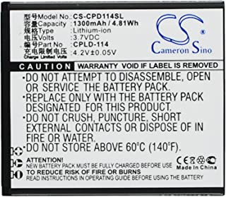 Battery 1300mAh Replacement for Coolpad 8079, Coolpad CPLD-114