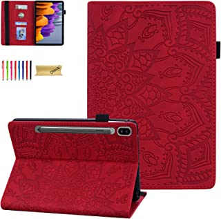 """Dteck for Samsung S7 Tablet Case, Galaxy Tab S7 11"""" Case 2020 SM-T870, PU Leather Stand Folding Folio Shockproof Protectiv..."""