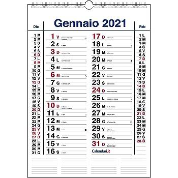 Calendario 2021 da muro mod. XL con più spazio per scrivere
