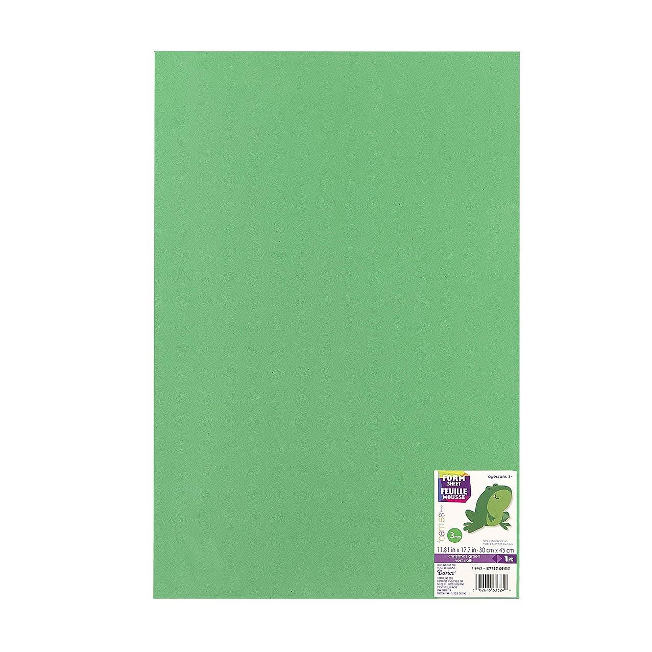 Foamies 12 Inch x18 Inch 3mm Foam Sheet-Green
