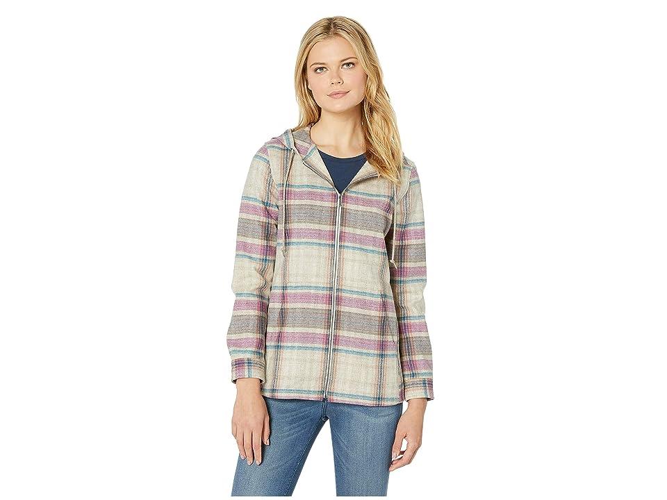 Pendleton Wool Zip Hoodie (Tan/Bright Multi Plaid) Women