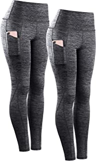 Women's Yoga Pant Running Workout Leggings with Pocket Tummy Control High Waist