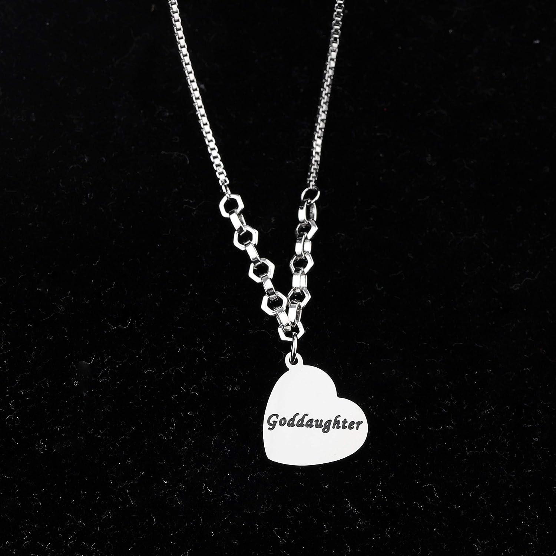 FUSTMW Goddaughter Bangle Bracelet Goddaughter Gift Religious Jewelry Baptism Communion Gift for Goddaughter