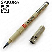 2 Per Order: Sakura Pigma Black Paint Brush Pen (XSDK-BR-49)
