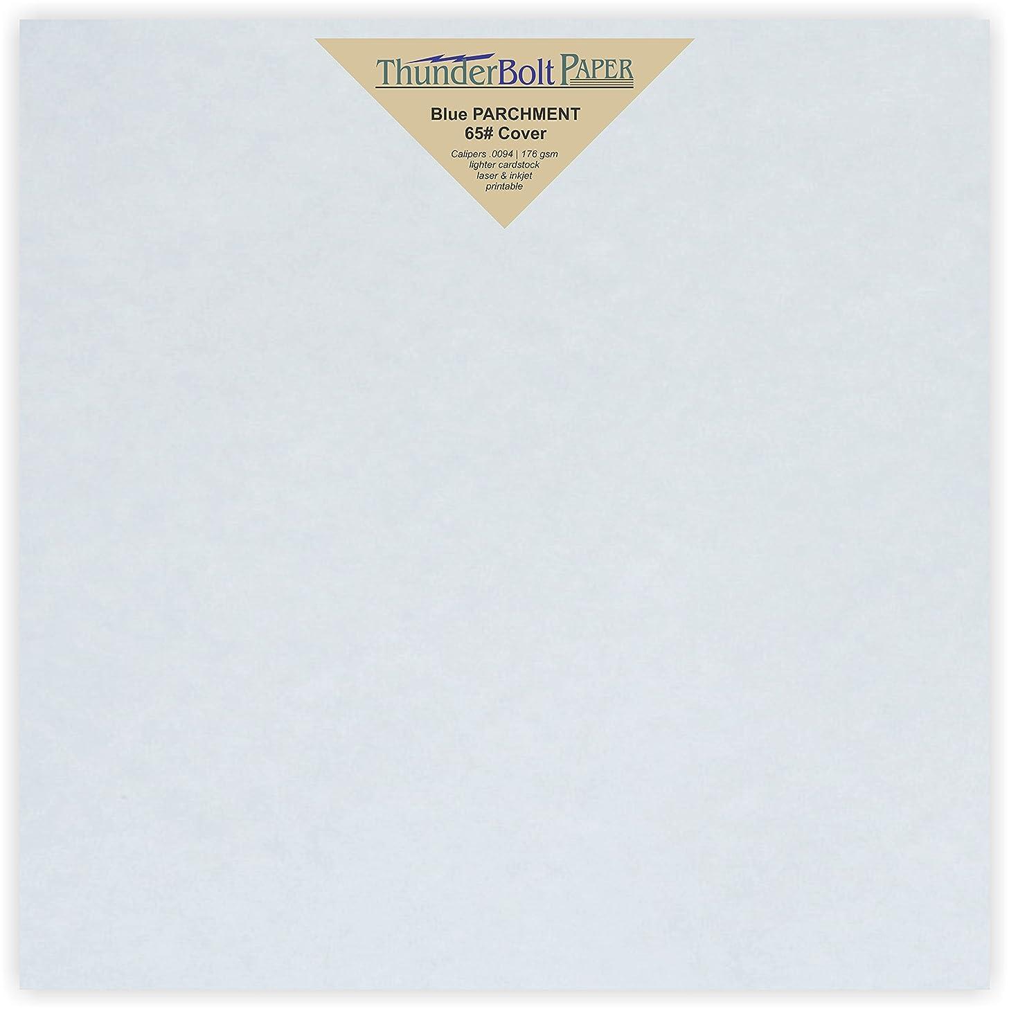 50 Blue Parchment 65lb Cover Weight Paper 9