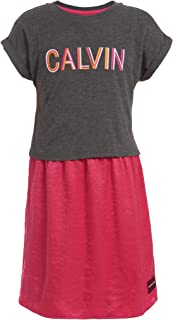Calvin Klein girls Girls' Tee Shirt Dress Casual Dress