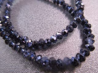 Chinese Crystal Faceted Roundel 3mm Beads 140pcs Metallic Blue #ID-2244