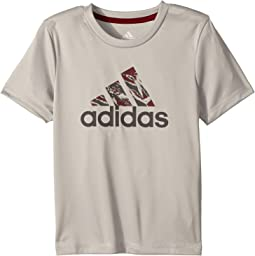 adidas Kids Short Sleeve Pattern Fill Logo Tee (Little Kids)