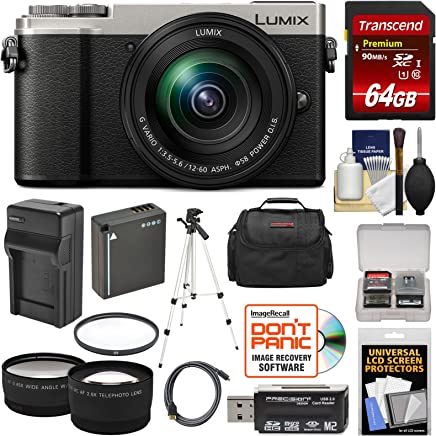 $798 Get Panasonic Lumix DC-GX9 4K Wi-Fi Digital Camera & 12-60mm Lens (Silver) with 64GB Card + Battery & Charger + Case + Tripod + Filter + Tele/Wide Lens Kit